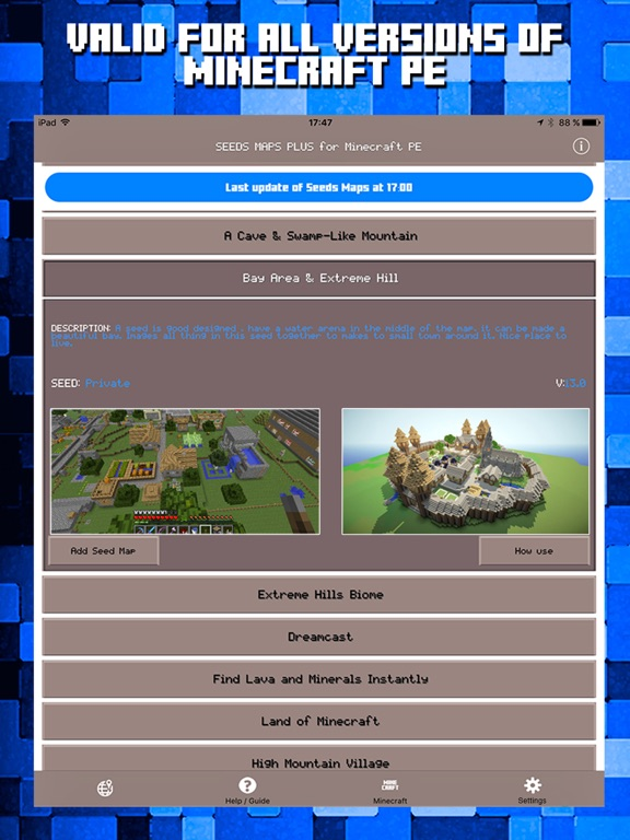 Seeds For Minecraft Pe Free Seeds Pocket Edition App Price Drops