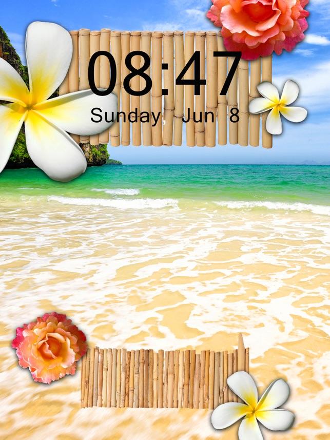 トロピカルビーチの壁紙 素晴らしいです夏バックグラウンド の 海辺の風景iphoneのための をapp Storeで