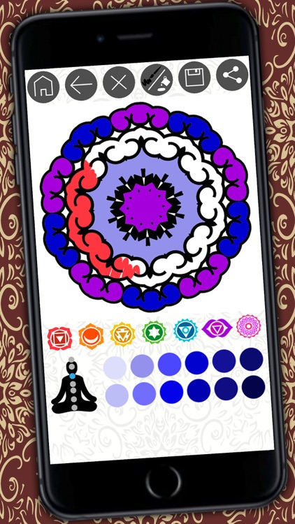 Mandalas coloring book Secret Garden colorfy game for adults - Premium