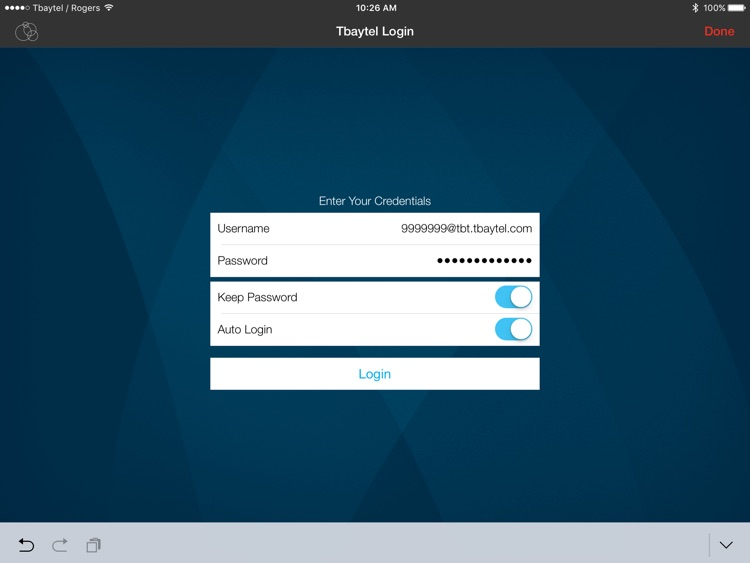 Tbaytel Soft-Phone for iPad by Tbaytel