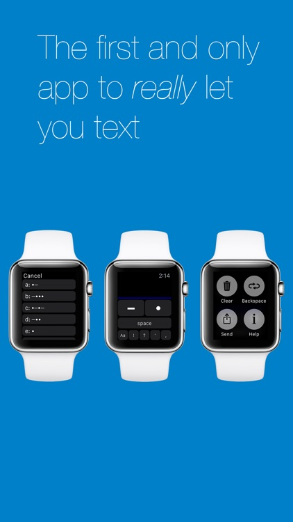 Morse – texting for Apple Watch