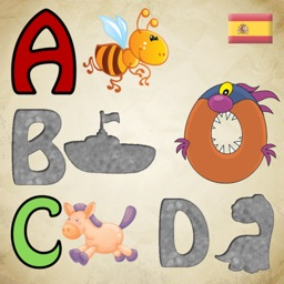 Spanish Alphabet Puzzles for Toddlers and Kids : First steps to learn Spanish !