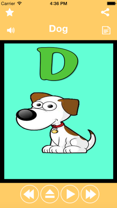 A-Z Animals Name for kids Educational Activity To Teach Names Of Popular Animals By Abcのおすすめ画像1