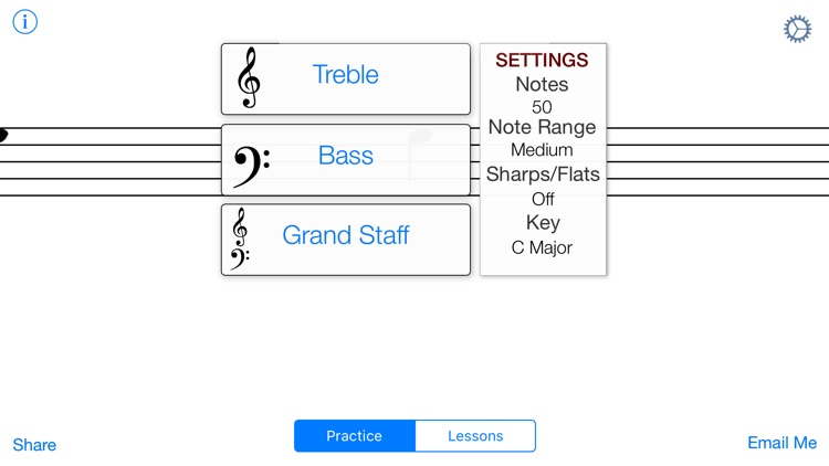 Music Note Sight Reading Trainer - Piano