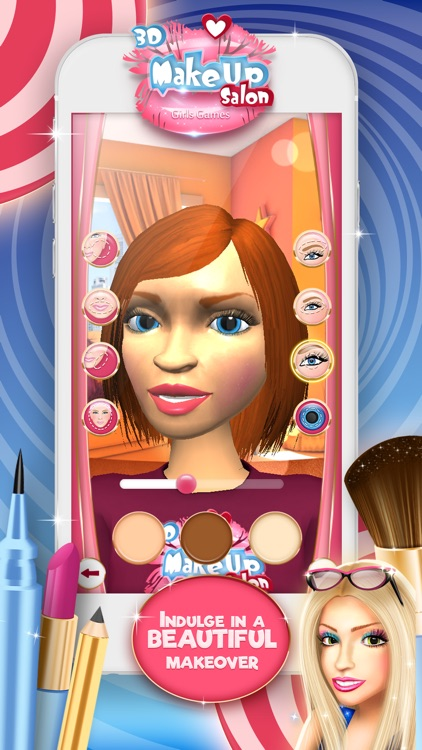 3D Make.Up Salon Girls Game.s: Fashion Dress.up Stylist and Beauty Model Make.over screenshot-4