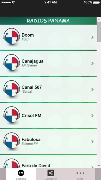 A + Radio Panama: Live Stations. Screenshot on iOS