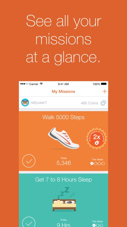 Rally℠ - Build healthy habits and earn rewards screenshot-0