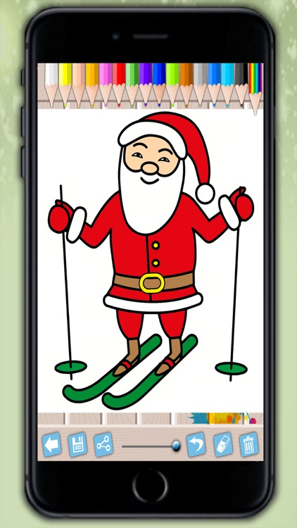 santa claus coloring pages xmas drawings to colour on christmas for kids 2 8