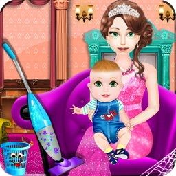 princess baby room cleaning games for girls