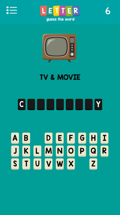 Letters : Guess The Word -- A Pop Culture Hangman screenshot-1