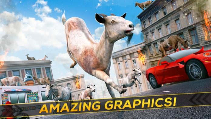Frenzy Goat . Super Cool Mountain Simulator Game For Kids Free Screenshot