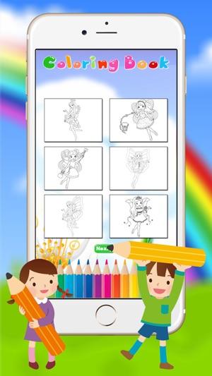 Hada y la princesa Libro de colorante para los niños del niño de ...