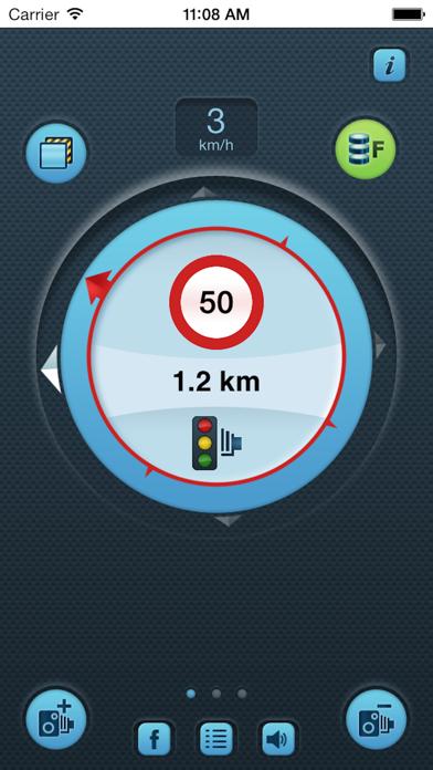 i SpeedCam World (Speed Camera Detector with GPS Tracking) Screenshots