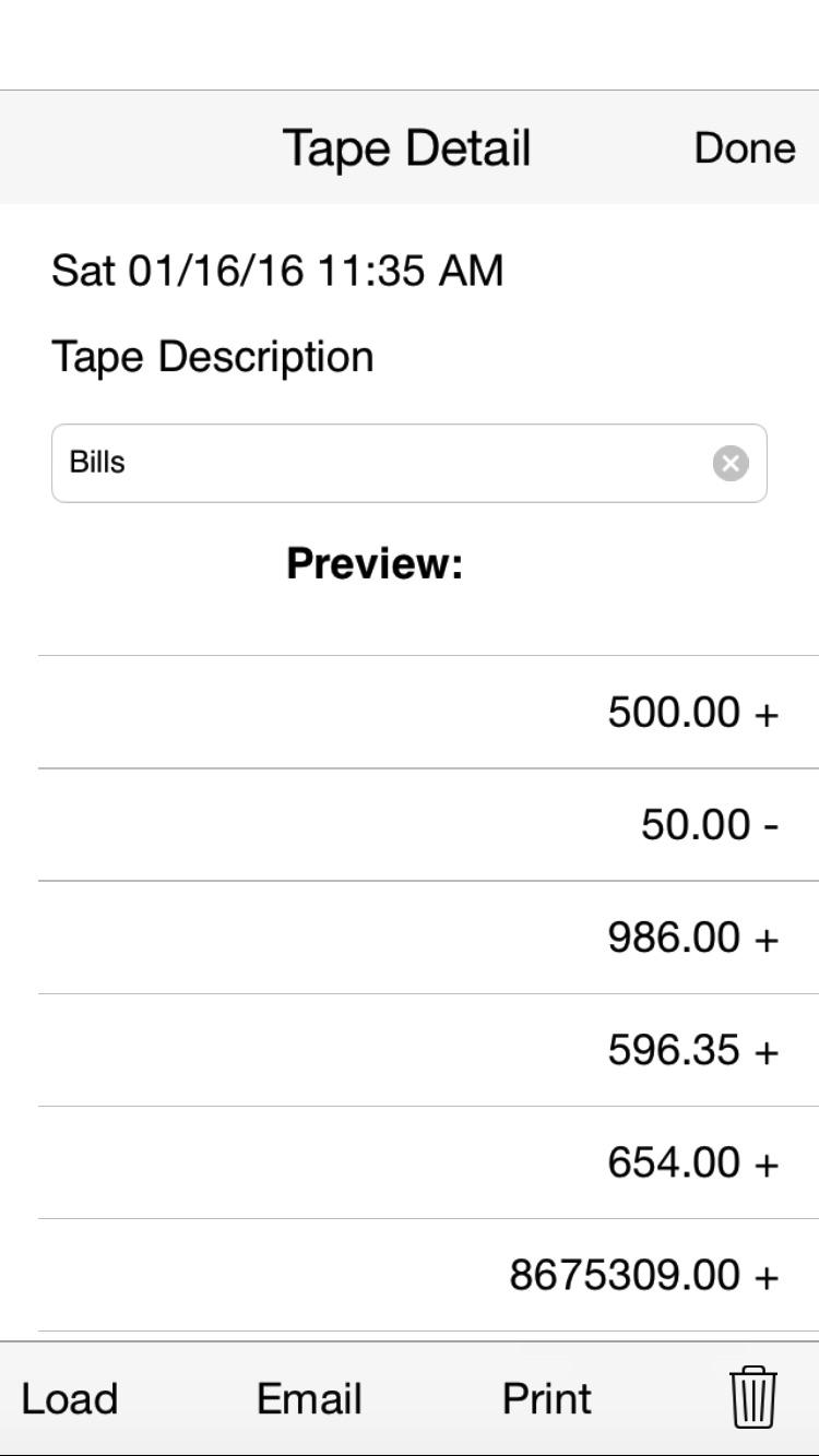 Adding Tape II adding machine with virtual tape cheat codes