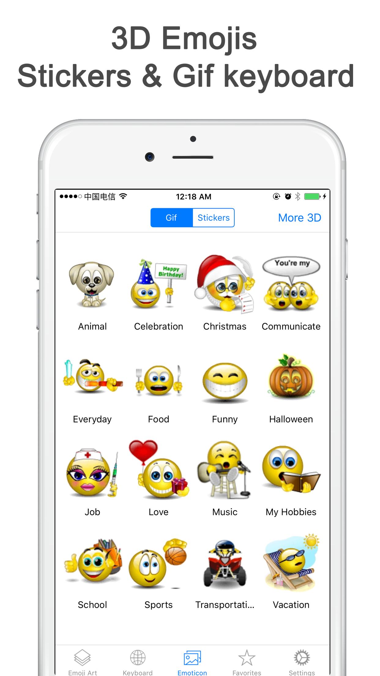 Best Emoji Keyboard - Customized with New Animated Emojis, Gif & Cool Fonts Screenshot