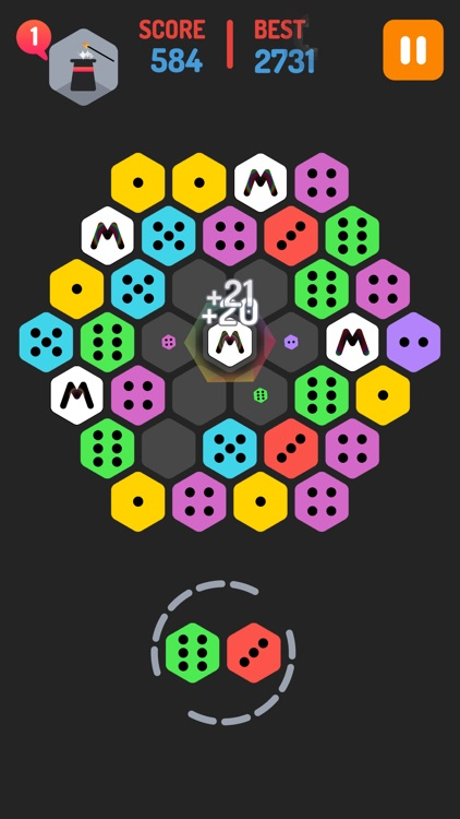 Merge Blocks - Merging hexagon puzzle fun game, rotate and merged screenshot-3