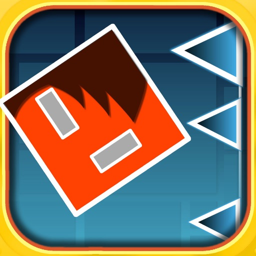 A Jumping Geometry Red icon