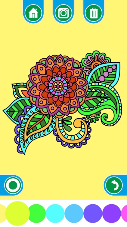 Coloring Books for adults - Mandala , ornament , anti-stress , art therapy