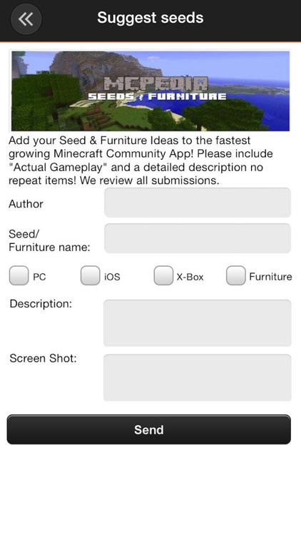 Seeds & Furniture for Minecraft: MCPedia Gamer Community! Ad-Free screenshot-4