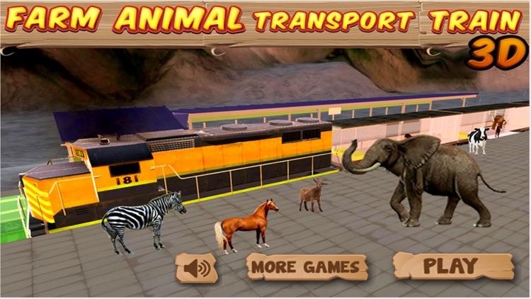 Farm Animal Transport Train 3d