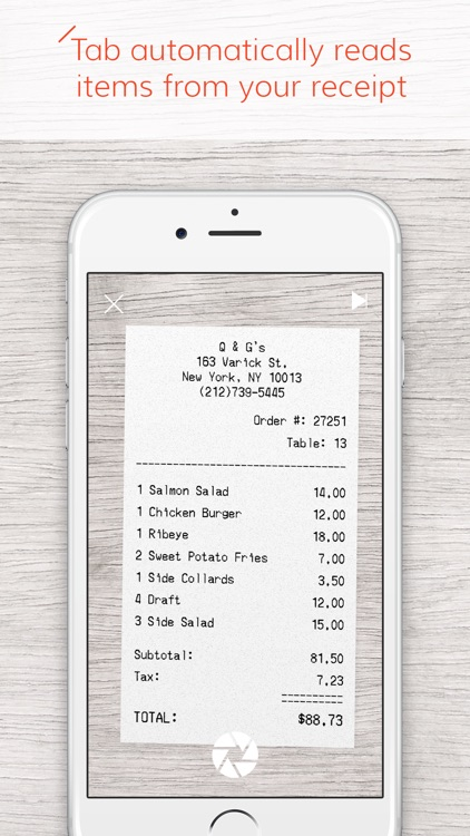 Tab - The simple way to split a bill