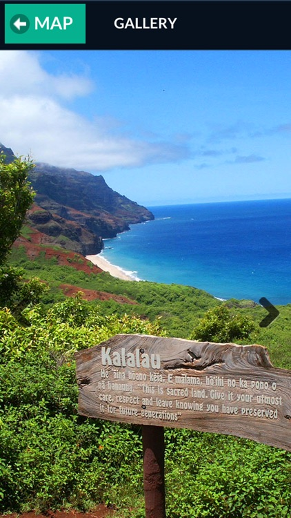 Kauai and Kalalau Map