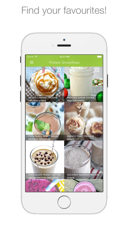 Protein Smoothies - smoothies & shakes for healthy living screenshot-4