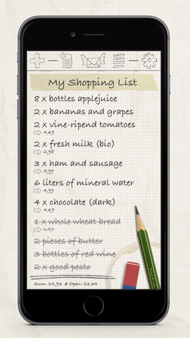 Shopping List / Grocery List Screenshot