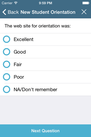 Screenshot of Campus Labs Collect