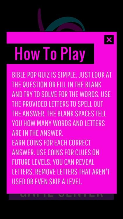Bible Pop - Quiz Game screenshot-4