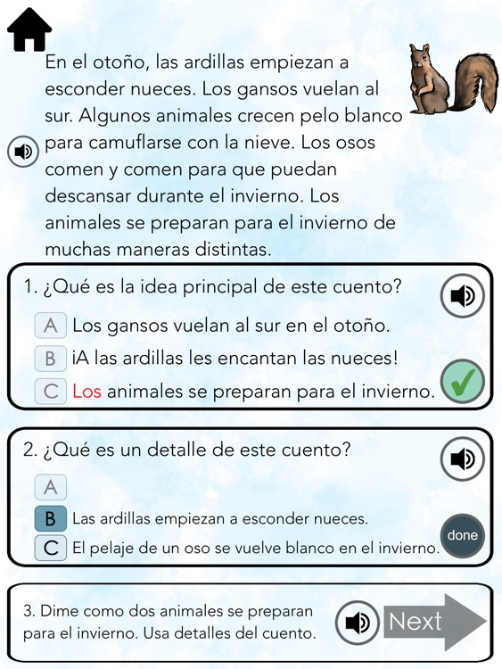 Spanish Reading ~ Main Idea screenshot-3
