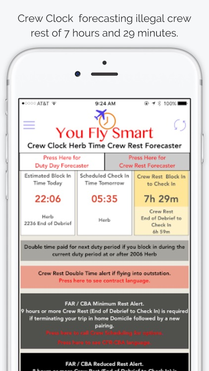 You Fly Smart with Crew Clock Herb Time screenshot-4