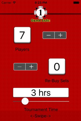 Poker Setup & Timer: Texas Hold'em screenshot 1