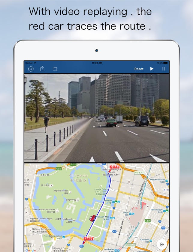 Route Video Player Google Street