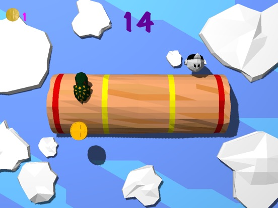 Froggy Log - Endless Arcade Log Rolling Simulator and Lumberjack Game Stay Dry and Dont Fall In The Water!-ipad-1