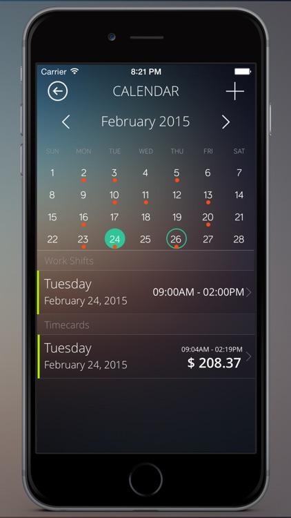 Timecard Pro - Hours & Work Schedule Tracking screenshot-4