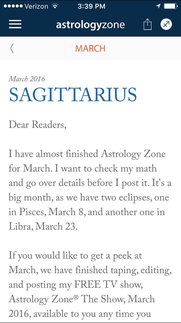 Susan Miller's Astrology Zone Screenshot