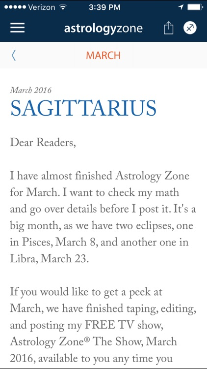 Susan Miller's Astrology Zone app image