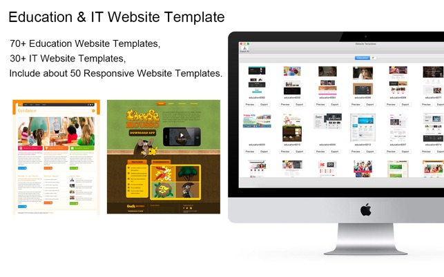 website template education it with html files pack4 をmac app