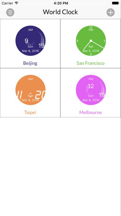 World Clock for iPhone screenshot one