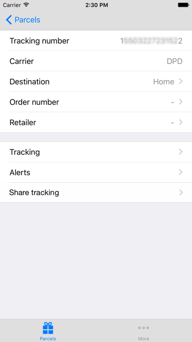 ParcelSpace delivery tracking+ screenshot two