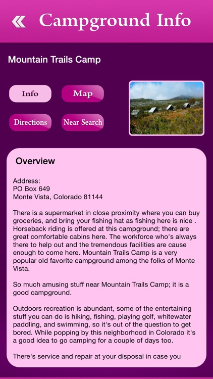 Colorado Campgrounds and RV Parks