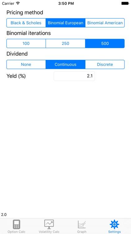 BS Option Pricer screenshot-4