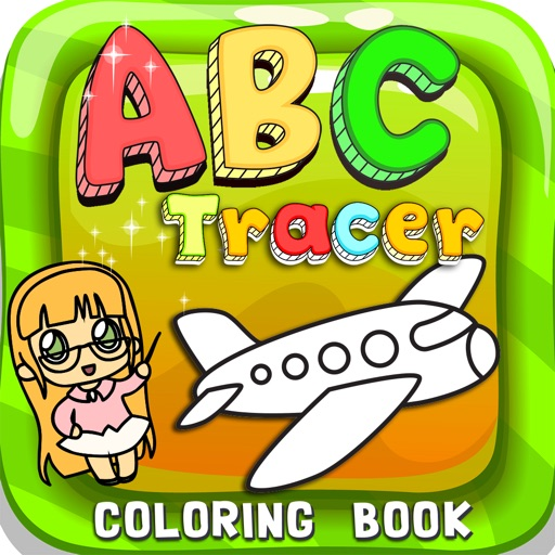 ABC Tracer Phonics Coloring Book: English Vocabulary Learning For Toddlers And Kids!