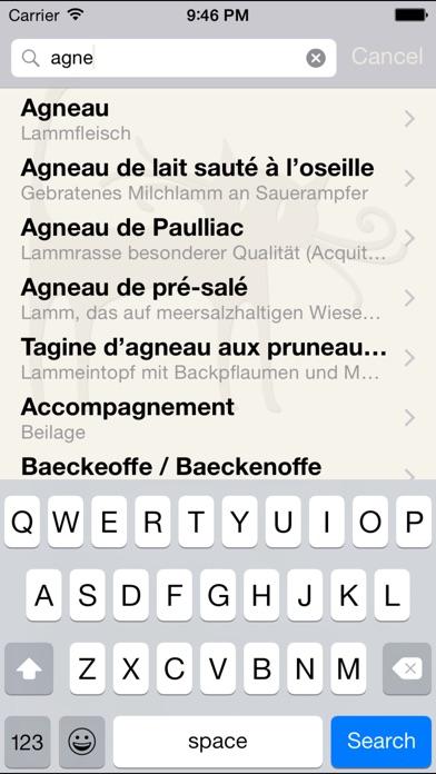 Screenshot for Bon appétit - Glossar Französischer Speisen in Germany App Store
