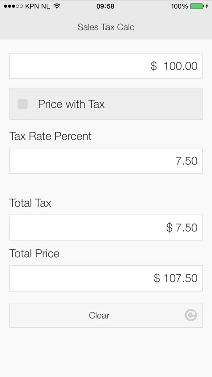 Sales Tax Calculator App