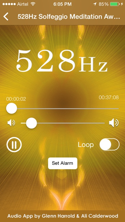 528hz Solfeggio Sonic Meditation by Glenn Harrold & Ali Calderwood screenshot-1
