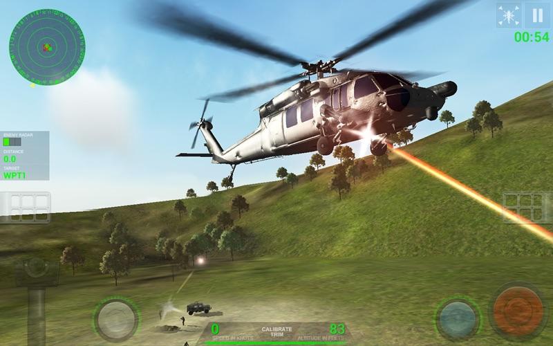 Helicopter Sim Pro - Hellfire Squadron screenshot 1