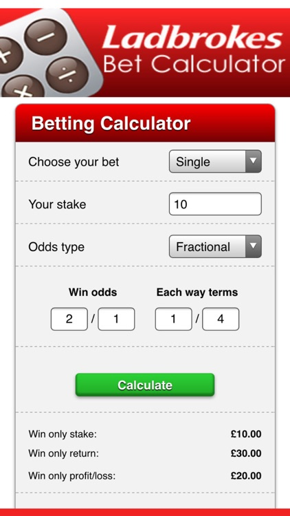 ladbrokes betting odds calculator