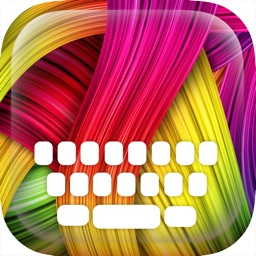 Custom Keyboard Abstract : Color & Wallpaper Themes in The Art Gallery Designs Style